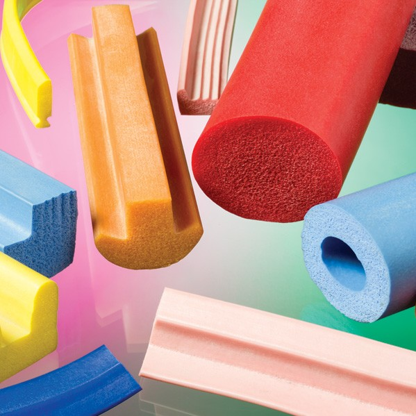 Silicone sponge extrusions sponge profiles i tube i cord for Sponge co uk